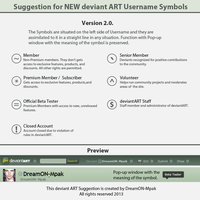 NEW Username Symbols Suggestion Version 2.0. by DreamON-Mpak