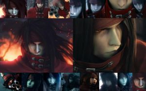 Vincent Valentine Wallpaper by EyesOnFire19