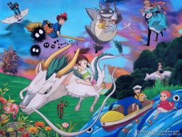 Tribute to Studio Ghibli by ChalkTwins