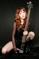 Jessica With Bass by UnSandpiper