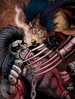 lobo vs weapon x colors by chachaman