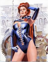 Jean Grey as Black Queen by mikemayhew