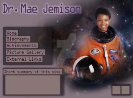 Dr. Mae Jemison design home page by TheMim