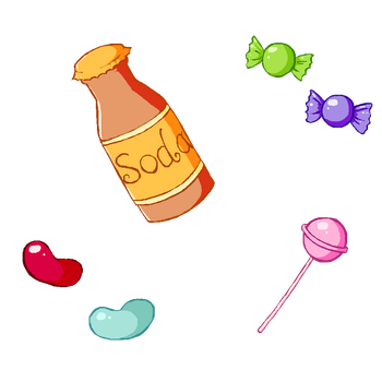 Sweets print (available on RedBubble) by Totallymad8