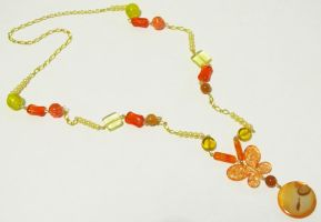 Butterfly orange necklace by AnaInTheStars