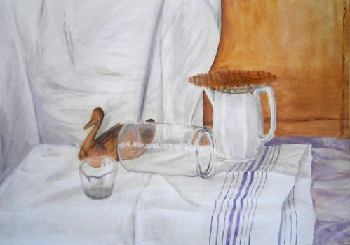 Still Life 4 - acrylic painting by Jakly