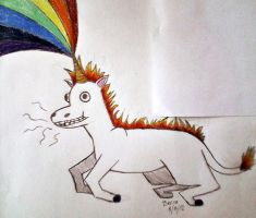 Flamin' Unicorn Rainbows by FoxAndLeo4Ever