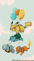 Balloonchu and the Starters by ditto9