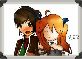 .:Present:. Ibito and Yume by Skychii