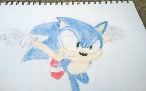 Sonic drawing by Sonic33333