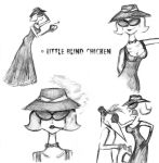 Lady in grey sketches by Little-Blind-Chicken