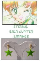 Eternal  Sailor Jupiter Earrin by Topaz-Jewelry