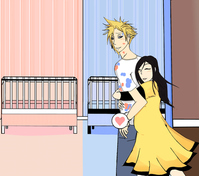 Cloud x Tifa: Nursery by AerisStrife2010