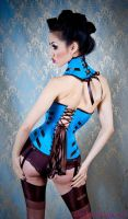 Jade Lattice Corset Back by ElectraDesigns