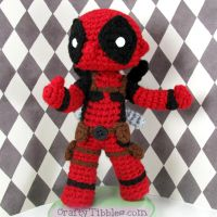 Custom Crochet - Deadpool by CraftyTibbles