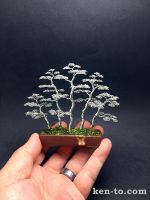 5 tree forest style bonsai sculpture by Ken To by KenToArt