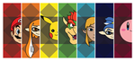 Colorful Faces of Nintendo by Andalusio