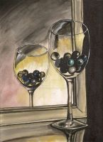 Marbles in a Wine Glass by bananaboo2
