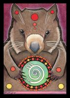 Wombat Totem by Ravenari