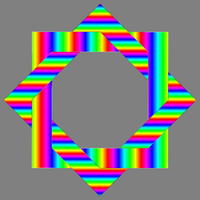 two rainbow squares by 10binary
