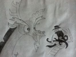 Discord VS Jack the Ripper by GAB-Bloodwing