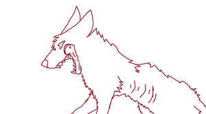 Dying wolf lineart by WhollyUnwind