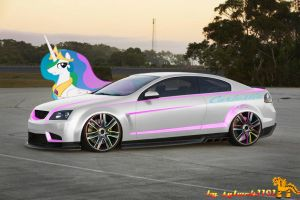 Princess Celestia Car by sylwek1191