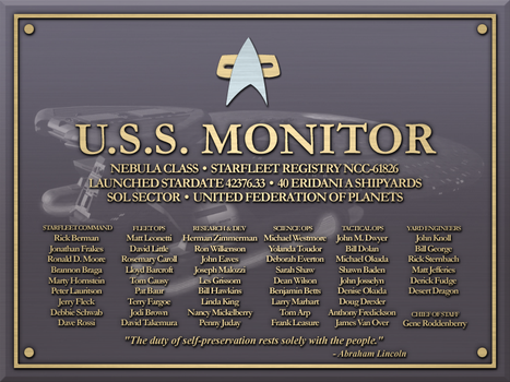 USS Monitor Plaque by LordTrekie