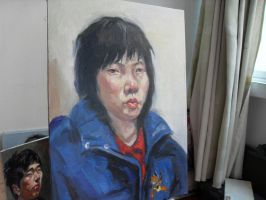3 hours oil painting 17 by curryQ