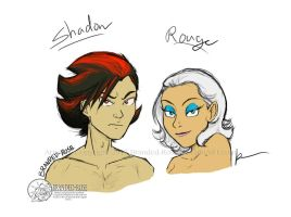 Human Shadow and Rouge by Branded-Rose