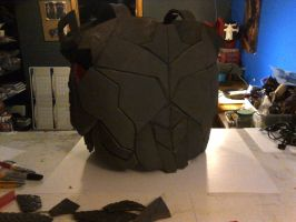 Nightwing Costume Chest Armor build pics by mongrelman