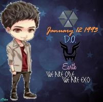 EXO-K D.O. Chibi Edit [PNG] by xElaine