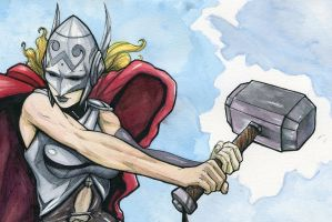 Thor commission from C2E2 2015 by JarOfComics