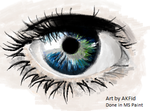 MS Paint Eye by AKFid