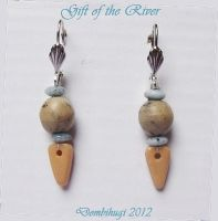 Earring - Gift of the River by DombiHugi