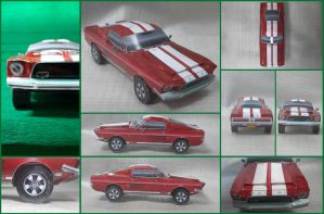 Ford Mustang Shelby GT500 KR 1968 Papercaft by Mironius