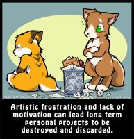 Life's A Chibi: Trashing Projects by o-kemono