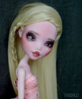 Fully customized Monster High - Draculaura doll by Katalin89