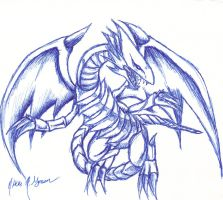Blue Eyes White Dragon by Takabi-Tenshi