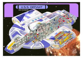 U.S.S. Defiant - inside by Paul-Muad-Dib