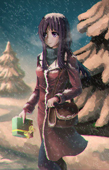 Christmas Hanako by RaiineRand