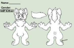 Free Fursuit Reference Sheet Lineart by Haaaze