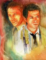 SPN- Castiel and Lucifer by Mafer