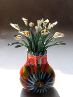Calla Lilies in a Vase by reynaldomolinawire