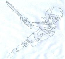 Young Warrior - Anime by wolf-skyhigh