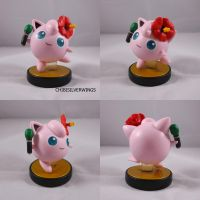 Jigglypuff with Marker and Hibiscus Flower by ChibiSilverWings