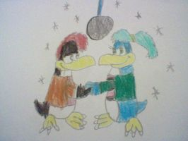 Palmer and Pheobe Dancing by nintendolover2010