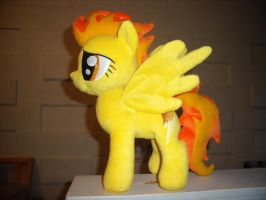 Flamey-o Pony Plush by fireflytwinkletoes