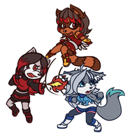Team Chibis!!! by ArticaArtes