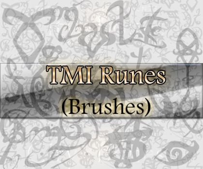 TMI Runes  Brushes by JosmaJB